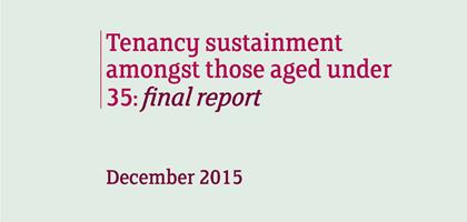 Tenancy sustainment amongst those aged under 35 - main report
