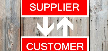 Supplier and customer sign