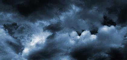 storm clouds banner