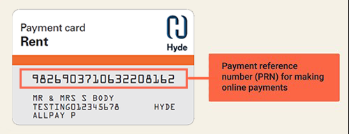 Hyde rent payment card